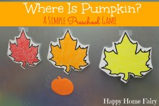 Where Is Pumpkin? A Simple Preschool Game