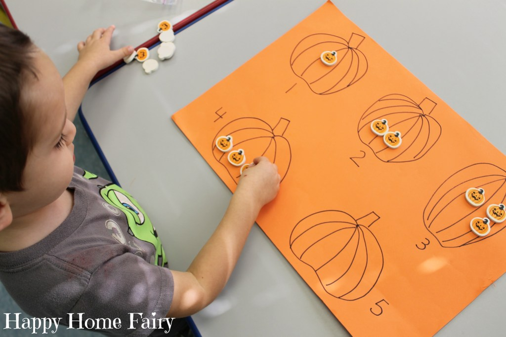 easy counting pumpkin activity 3