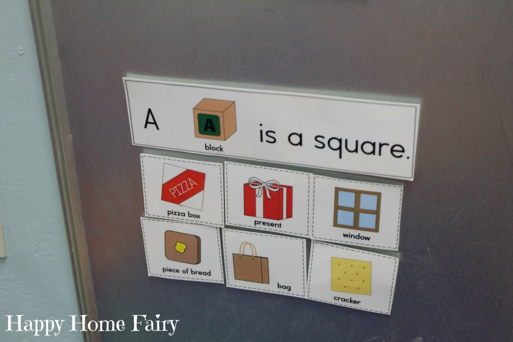 preschool teaching shapes - squares 1
