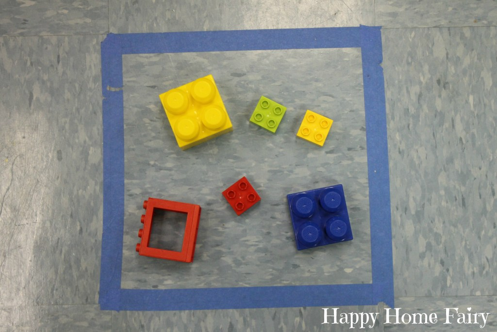 preschool teaching shapes - squares 2