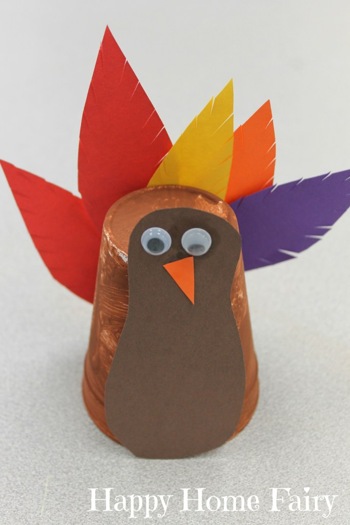 Super Easy Turkey Cup Craft Happy Home Fairy