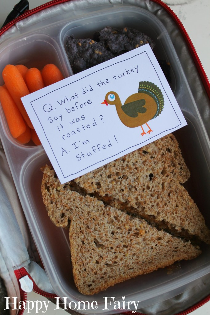 Thanksgiving Lunch Box Notes - so cute!