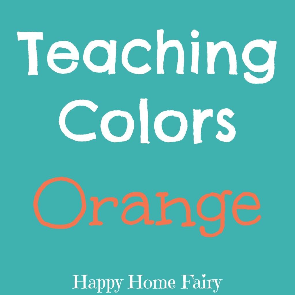 teaching colors - orange