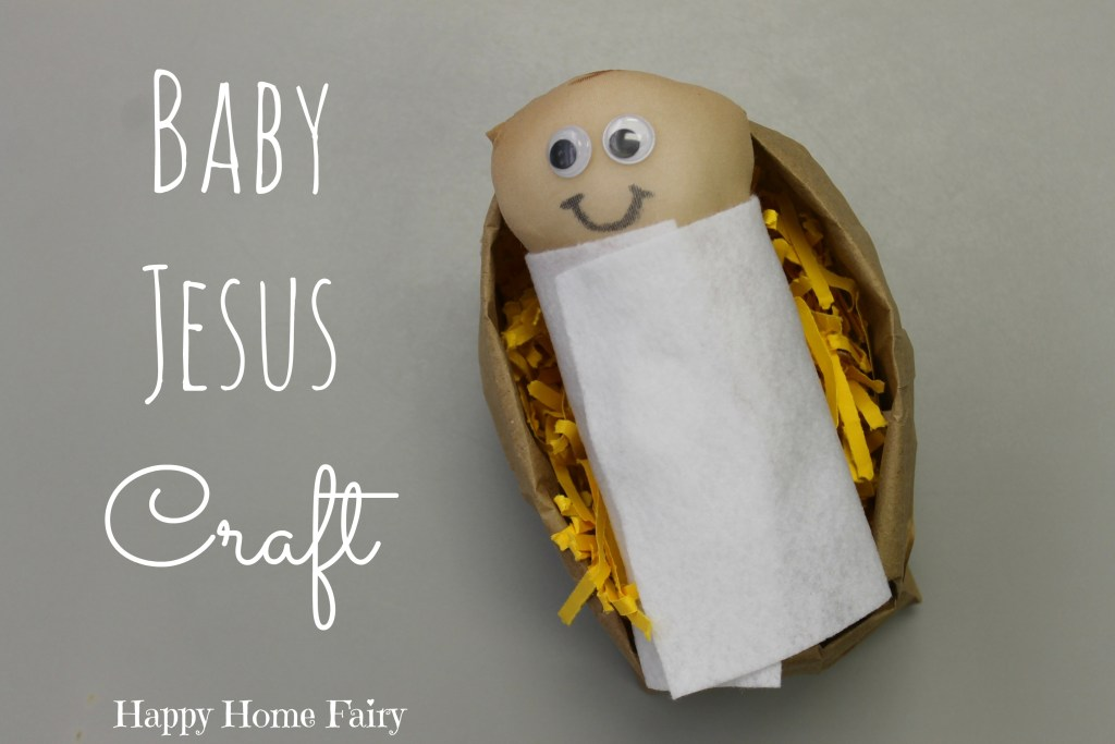 Baby Jesus Craft - perfect for preschoolers! They love swaddling the little Jesus doll!