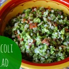Broccoli Salad at happyhomefairy.com - a yummy dish to make for Christmas!