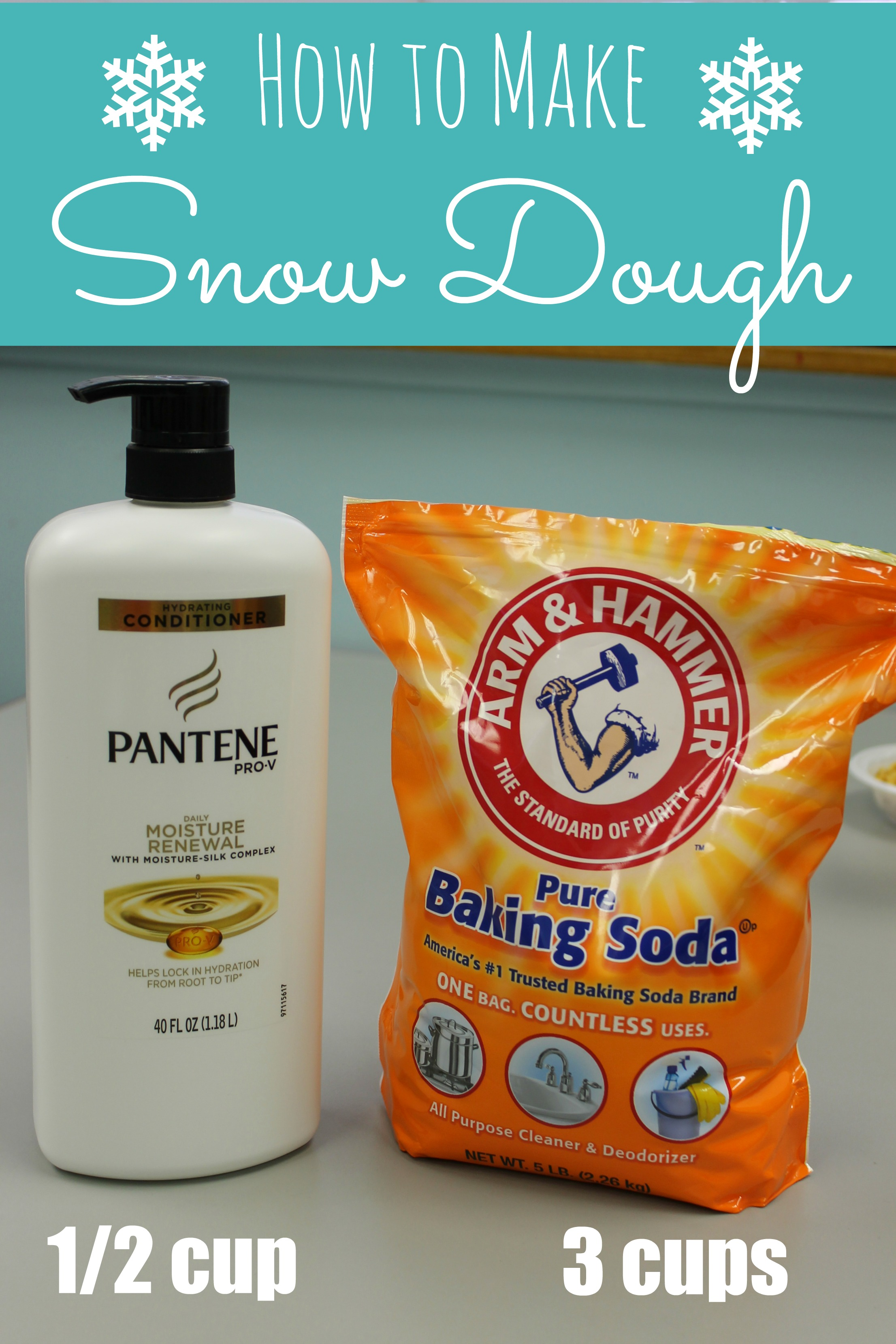 How To Make Snow Dough ONLY 2 INGREDIENTS Happy Home