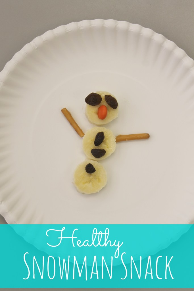 healthy snowman snack - so cute and easy for my little ones to make!