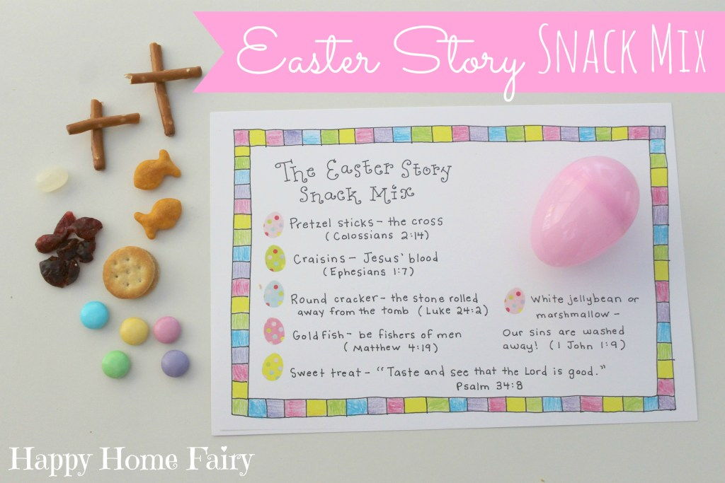 Easter story snack mix - FREE Printable!