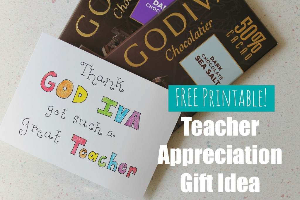 Quick and Easy Teacher Appreciation Idea