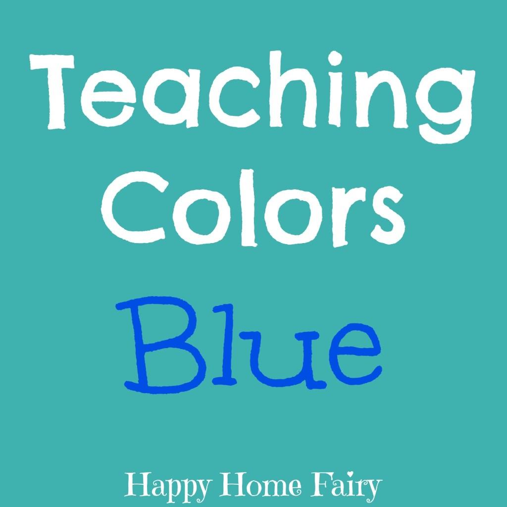 teaching colors - blue