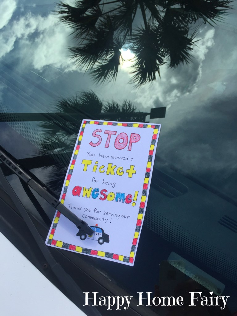 how to thank a police officer! FREE Printable!