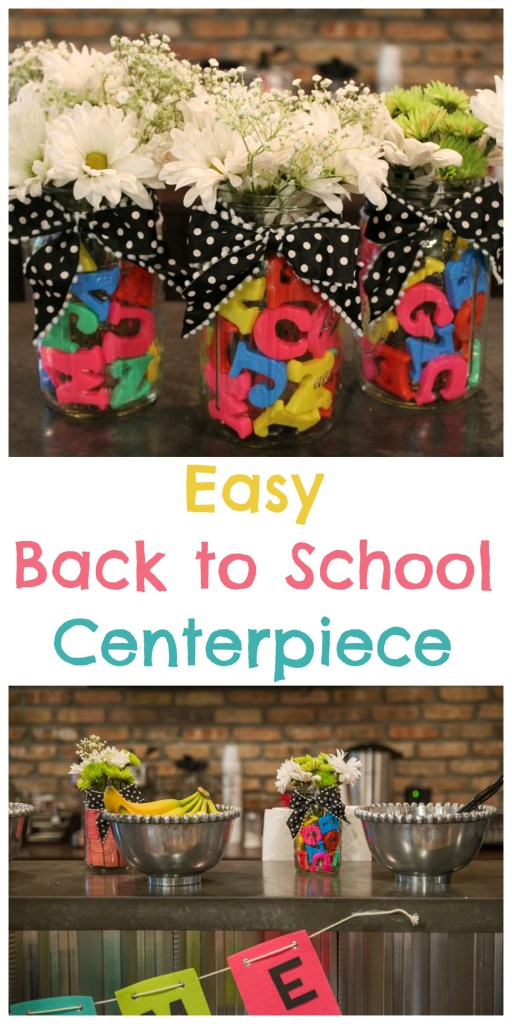 Easy Back to School Centerpiece