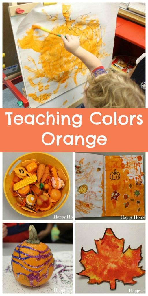 Teaching Colors Orange