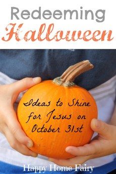 Redeeming Halloween – Ideas to Share Jesus on October 31st