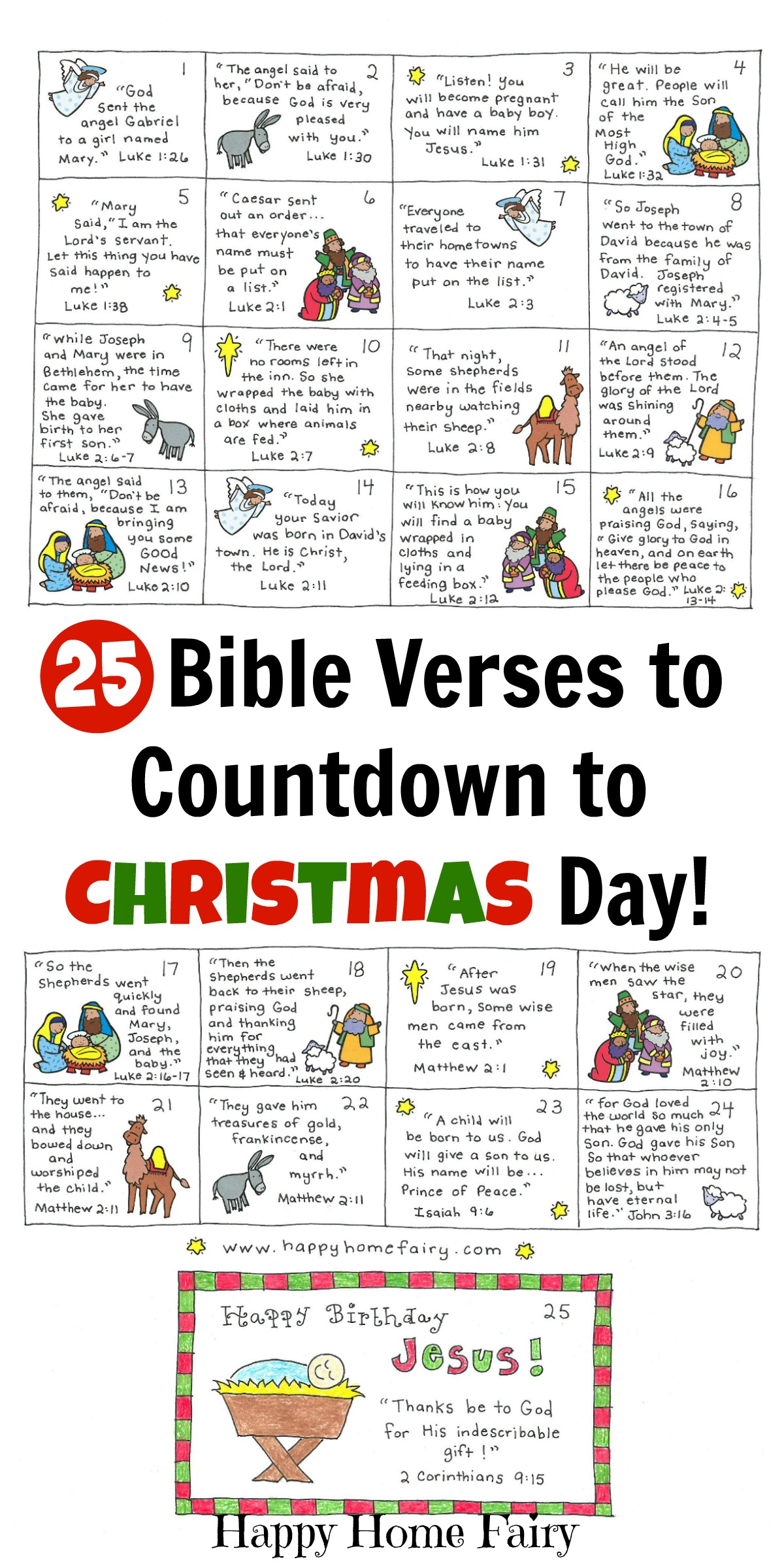 Bible Verse Advent Countdown for Kids - FREE Printable! - Happy ...