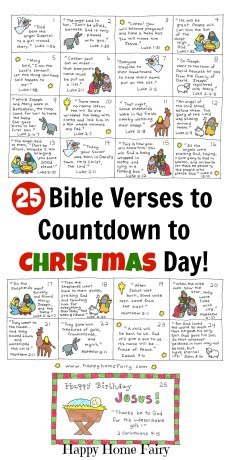 Bible Verse Advent Countdown for Kids – FREE Printable!