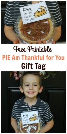 PIE Am So Thankful For You! – FREE Printable