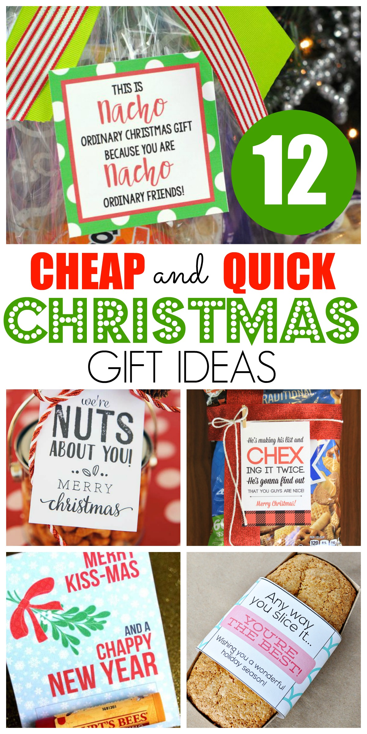 12 days of christmas small gifts ideas