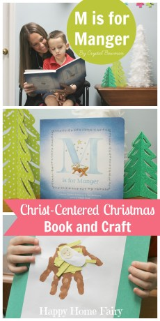 M is for Manger Book Activity and Baby Jesus Craft