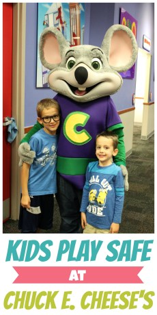 Kids Can Play Safe at Chuck E. Cheese's