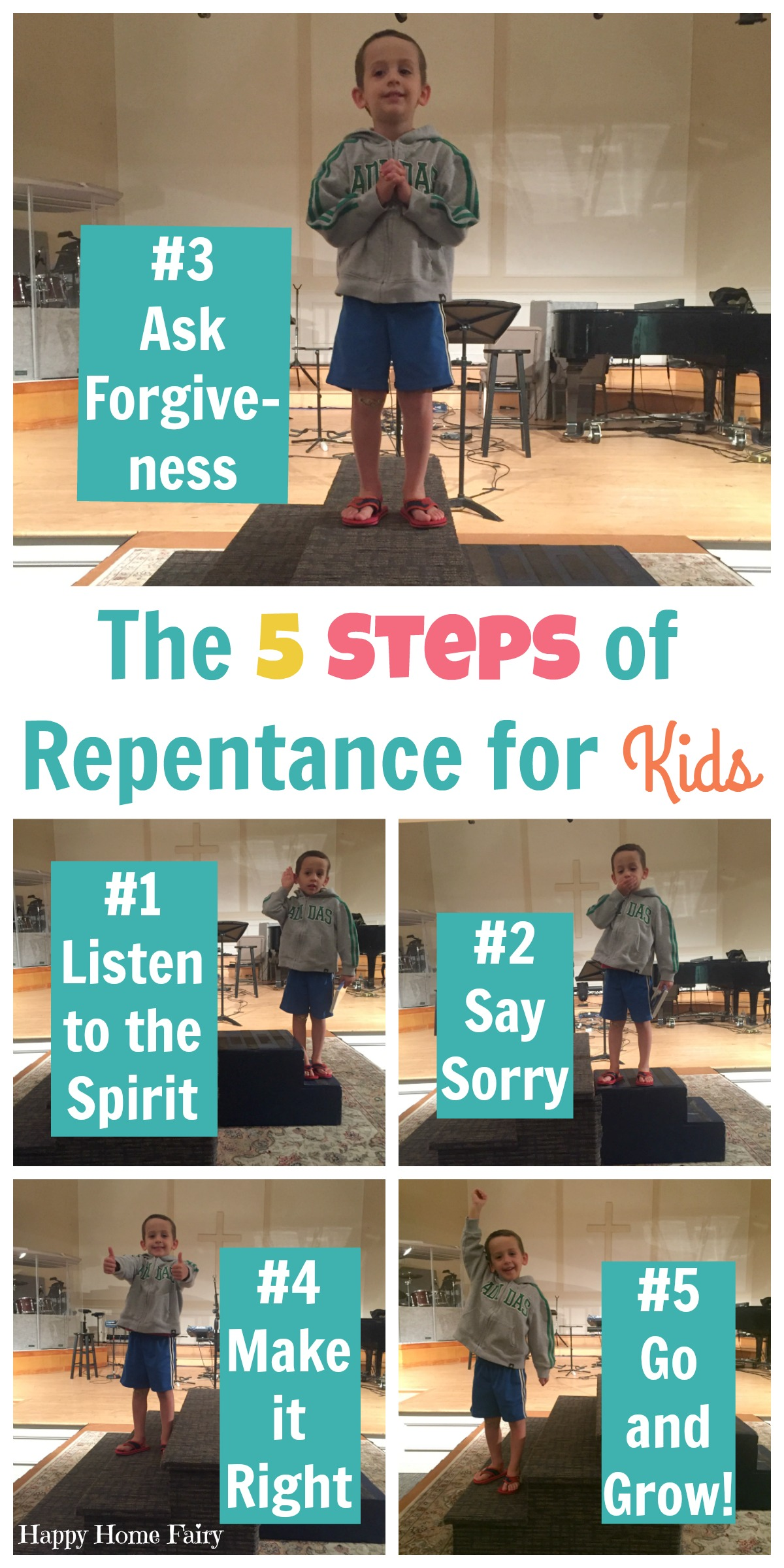 The 5 Steps Of Repentance For Kids Happy Home Fairy