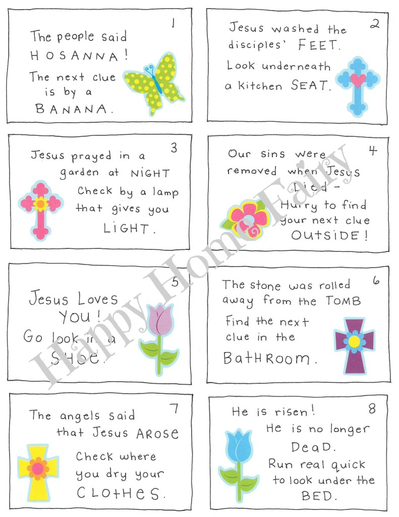 Christ Centered Easter Morning Scavenger Hunt For Preschoolers Free Printable Happy Home Fairy