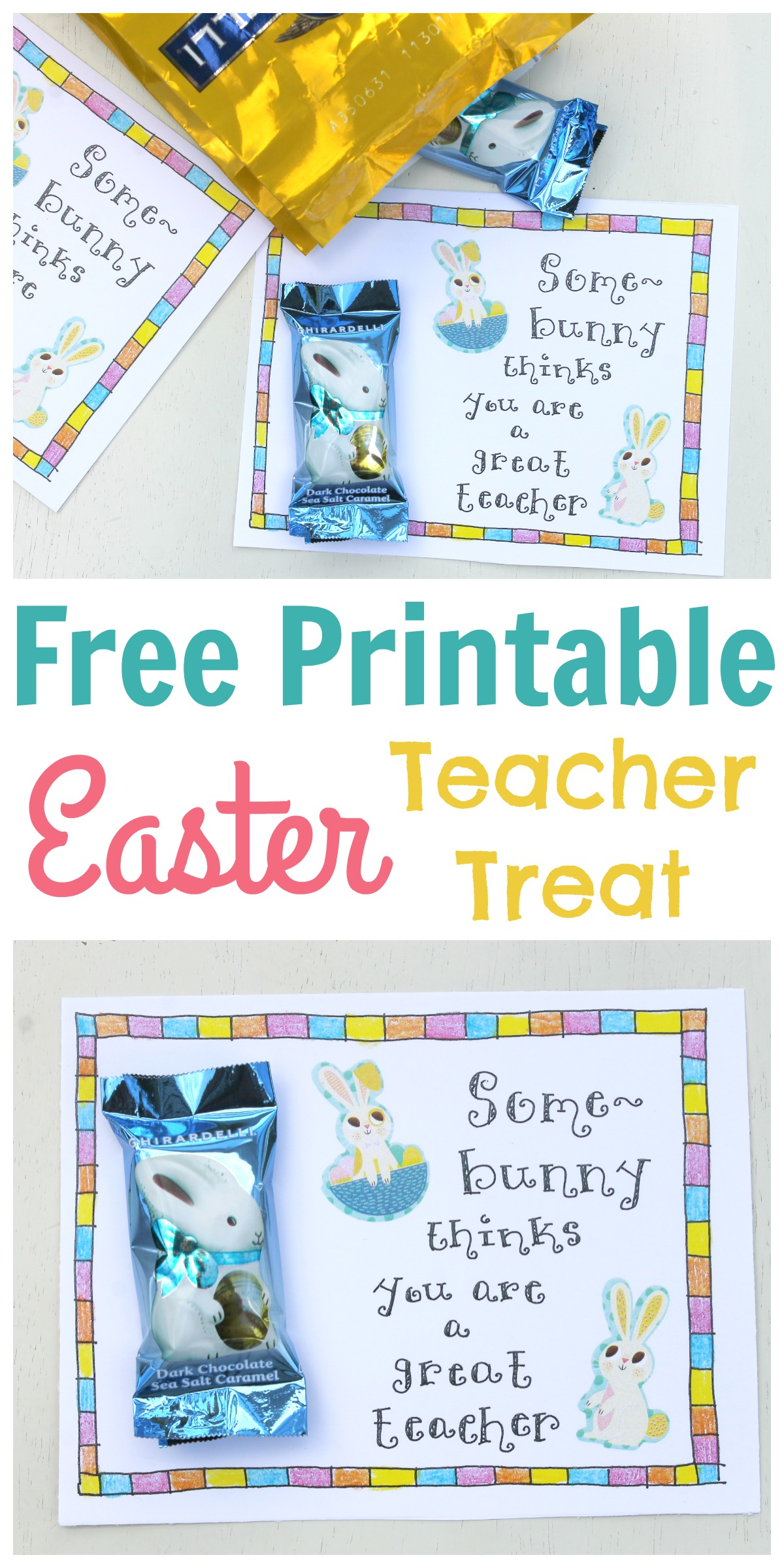 Easter Treat Tag For Teachers
