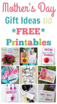Quick and Easy Mother's Day Gift Ideas and Printables