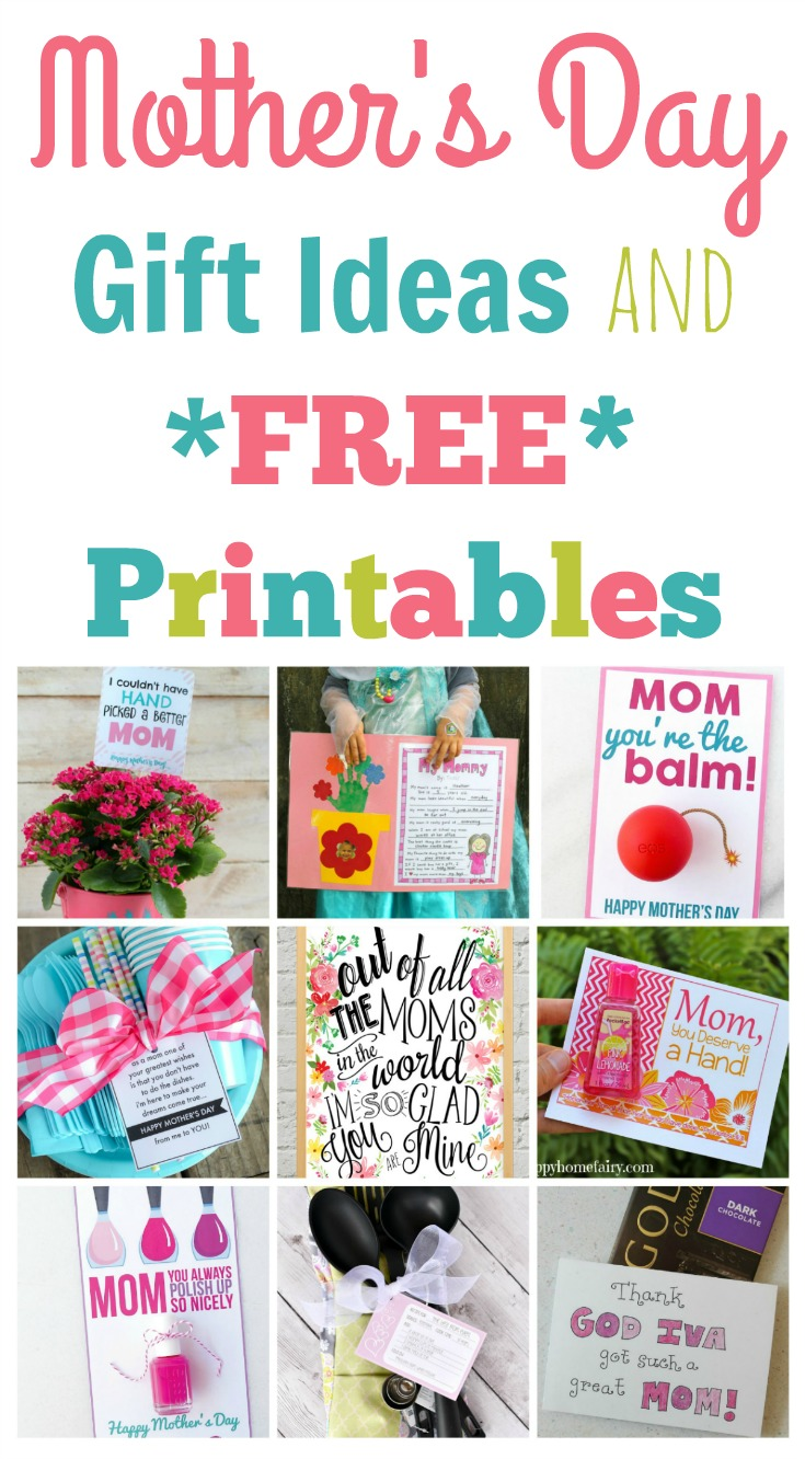 Quick And Easy Mother S Day Gift Ideas And Printables Happy Home Fairy
