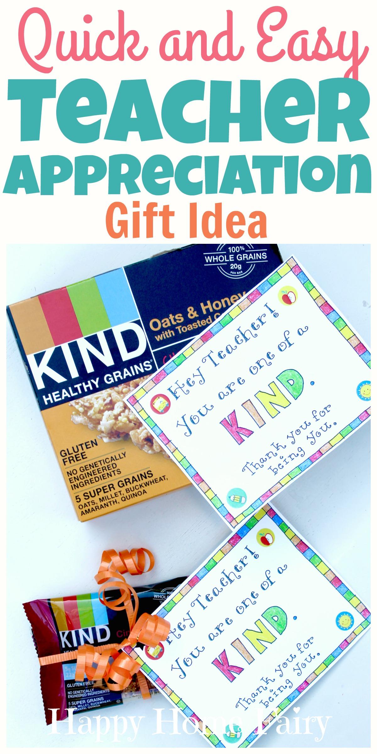 Last Minute Teacher Appreciation Gift Idea FREE