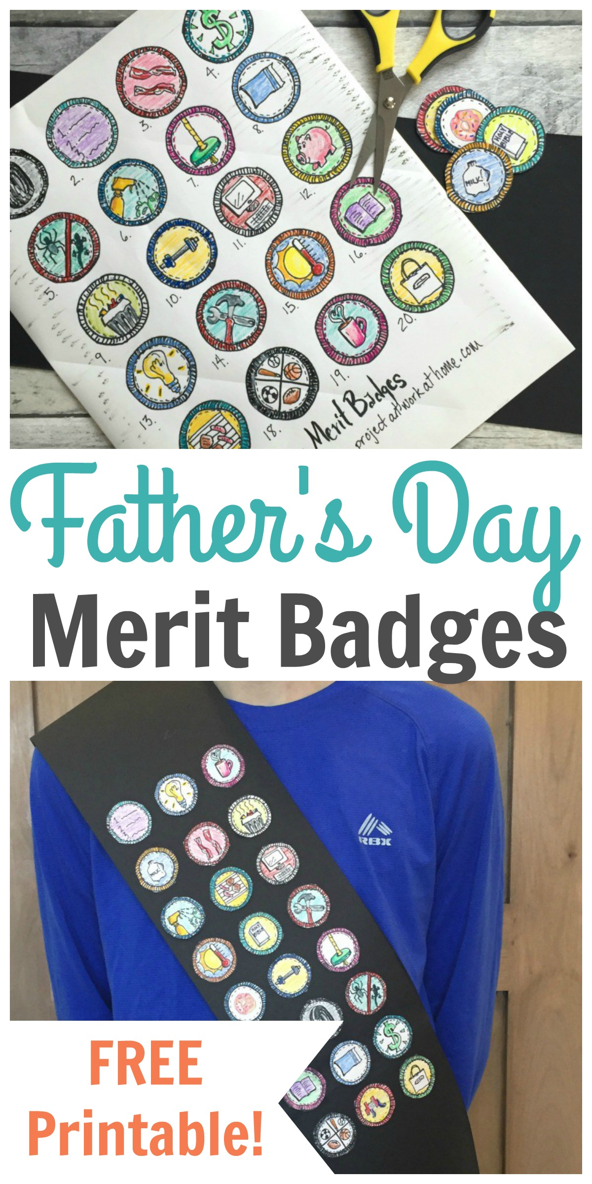 image regarding Printable List of Merit Badges known as Fathers Working day Advantage Badges - Totally free Printable! - Content House Fairy