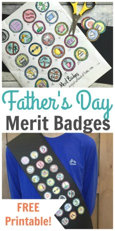 Father's Day Merit Badges – FREE Printable!