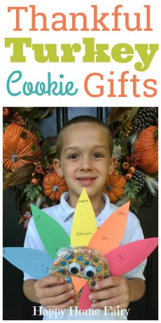 Thankful Turkey Cookie Gifts