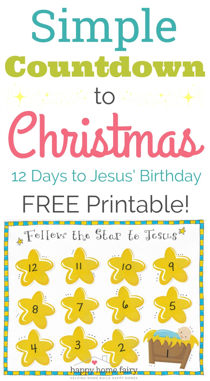 picture relating to Countdown Printable identify Very simple Countdown in direction of Xmas - Absolutely free Printable! - Satisfied Household