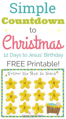 Simple Countdown to Christmas – FREE Printable!