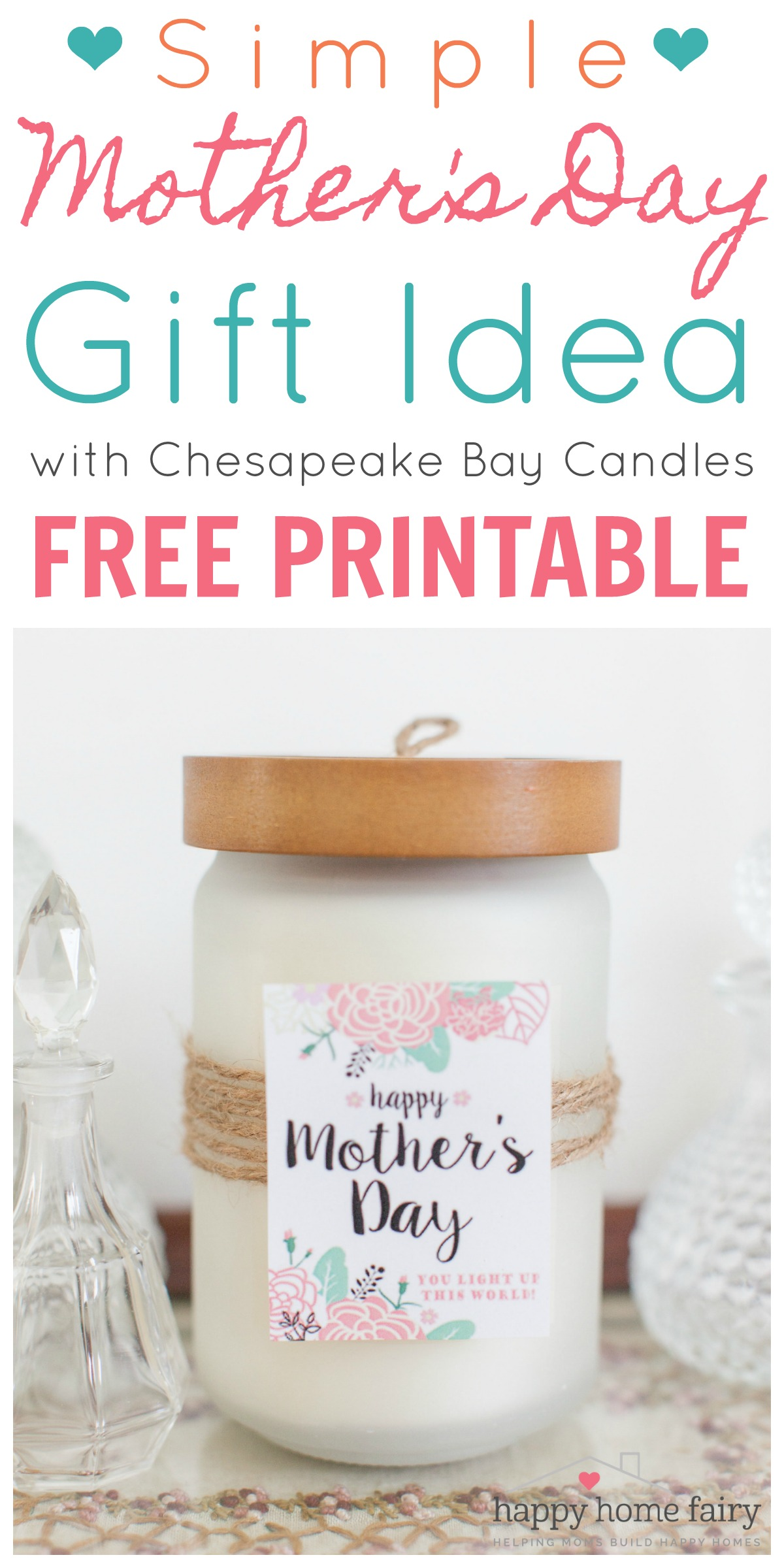 Simple Mother\'s Day Gift Idea - FREE Printable! - Happy Home Fairy