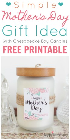 Simple Mother's Day Gift Idea – FREE Printable!