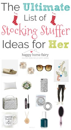 THE ULTIMATE LIST OF STOCKING STUFFER IDEAS FOR HER