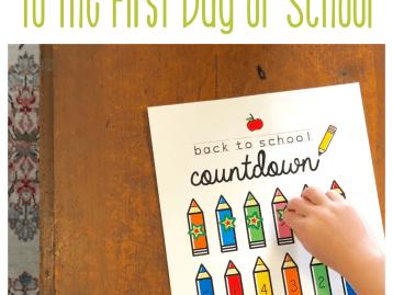 HAPPY HOME FAIRY COUNTDOWN TO SCHOOL FREE PRINTABLE