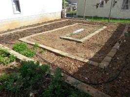 clean, redesigned spring garden