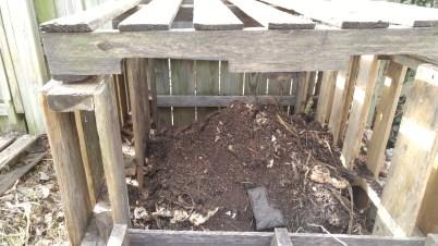 Newly built compost bin