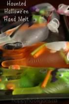 Haunted Hallowe'en Hand Melt - happy hooligans