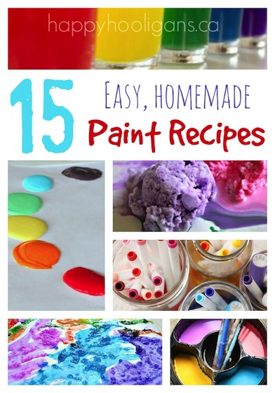15 Easy Homemade Paint Recipes To Make For Your Kids Happy Hooligans