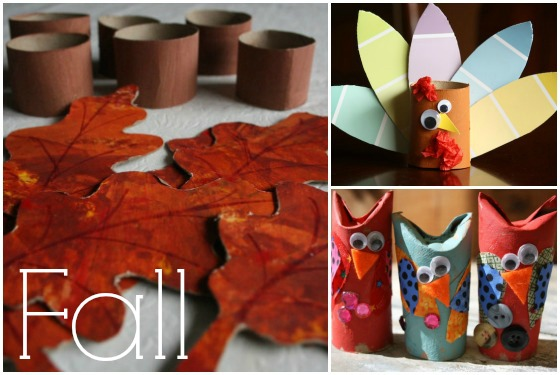 fall crafts with cardboard rolls