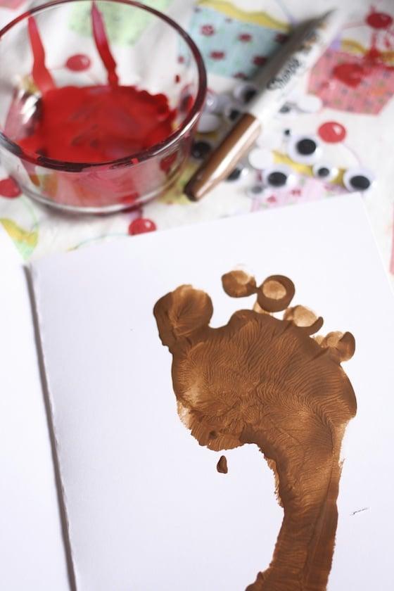 Footprint Rudolph Christmas Cards Happy Hooligans