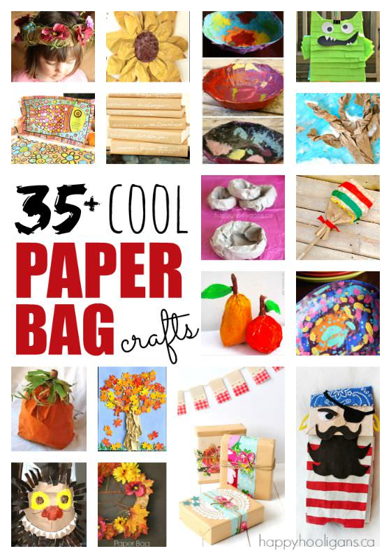 35+  Cool Paper Bag Crafts for Kids
