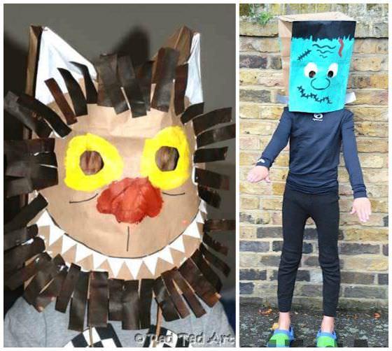 paper bag halloween masks copy