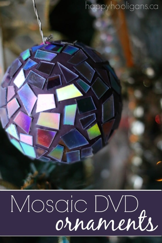 Easy Gorgeous Mosaic DVD Ornaments Happy Hooligans