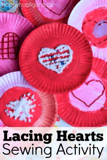 Paper Plate Heart Lacing Activity For Kids Happy Hooligans