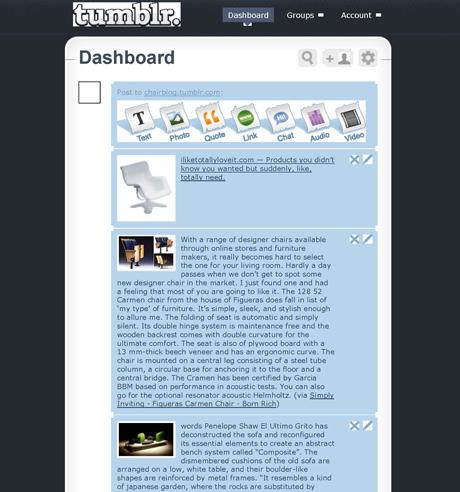 Tumblr Dashboard Chair Blog | Tumblr